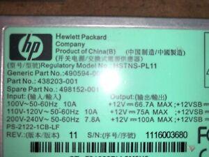 HP Server HSTNS-PL11 1200W Power Supply 490594-001 438203-001 498152-001 PSU