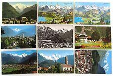 Kanton Bern Postkarten Lot INTERLAKEN 9 Ansichtskarten frankiert gelaufen >1967