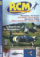 RCM N°271 PLAN : PIPER J3 / SPITFIRE FSK / HARPOON GRAUPNER / HASHIMOTOT
