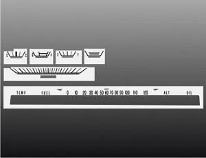 1967-1971 Dodge Dart Sweep Dash Cluster White Face Gauges 67-71