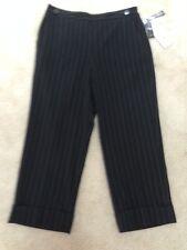 LARRY LEVINE Stretch  Capri Pants,Size 12, 63% Polyester, 33% Rayon, 4% Spandex