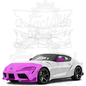 Paint Protection Film Clear PPF for Toyota GR Supra 2020 Half Front