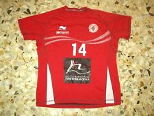 maillot entrainement porté shirt  BIARRITZ OLYMPIQUE N° 14 BO PAYS BASQUE RUGBY