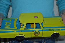 VERY BIG CAR 1960s ! VINTAGE Russian Soviet USSR TIN TOY metal model police GAI