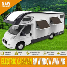 New Electric Caravan Rv Window Awning Remote 1.25m Wide Italian Designed Wereda