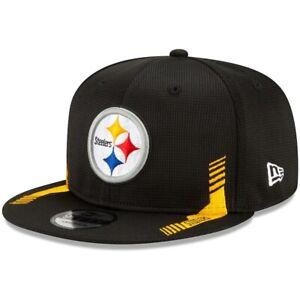 2021 Pittsburgh Steelers New Era 9FIFTY NFL Snapback Sideline On Field Hat Cap