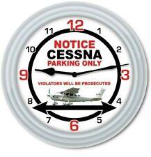 Cessna Parking Wall Clock - Airplane Hangar Flight Pilot Aviation - GREAT GIFT