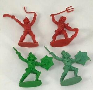 4 gladiatori CO MA small soldiers gladiators Vintage soldatini made in ITALY