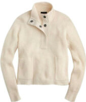 J. CREW RIBBED POPOVER SWEATER IN HEATHER MUSLIN