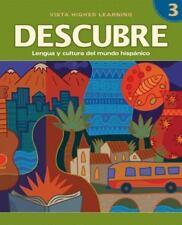 DESCUBRE, nivel 3 - Lengua y cultura del mundo hispánico - Student Activities B