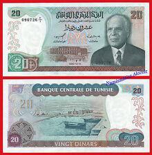 TUNEZ TUNISIA 20 Dinars dinares 1980 Pick 77 SC- / aUNC