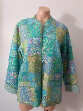 Orvis Women's Jacket Coat Size M Patchwork Mandarin collar Quilted