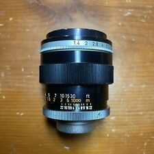 Canon TV-16 50mm f1.4 C Mount Cine Lens