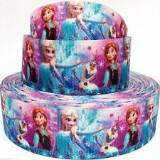 "Grosgrain Ribbon 5/8"", 7/8"",1.5"", 3"" in Frozen Elsa Anna Snowman Printed F1 Z"