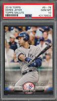 Derek Jeter New York Yankees 2018 Topps Salute Baseball Card #S-78 PSA 10