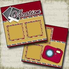 VACATION - 2 Premade Scrapbook Pages - EZ Layout 2520