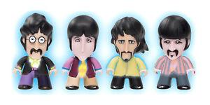 "The Beatles 3"" Yellow Submarine Fab Four Glow in Dark Pack Titan Vinyl Figures"