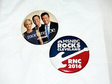2016 RNC GOP Cleveland MSNBC Rocks and Morning Joe Large Political Buttons Trump