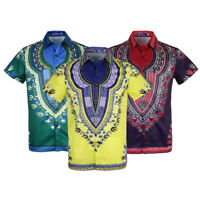 Fashion Men's African Dashiki Shirt Boho Hippie Gypsy Beach Tops Party Dress