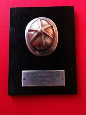 PLAQUE MEDAL 1969 FIREFIGHTING CROATIA EX YUGOSLAVIA FIREFIGHTERS FIREMAN -RARRE