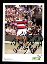 Sylvia Hanika autografiada mapa original firmado tenis + a 167032