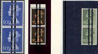 GB 1970/1 Machin 3 1/2 P, 9 P u 50 P postfr. Paare m. Postschule-Balkenüberdruck