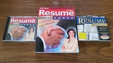 WINWAY RESUME DELUXE 2003 CD & INSTRUCTION BOOK ALONG WITH RESUME WORKSHOP cd