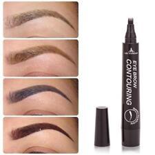 4Colors Eyebrow Tattoo Pen Waterproof Fork Tip Patented Microblading Ink Sketch!