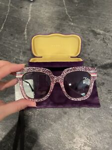 Women's GUCCI pink glitter sunglasses NWT