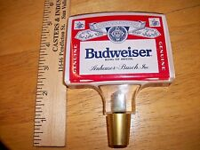 ORIGINAL RETRO VINTAGE RETIRED SQUARE BUDWEISER CLEAR ACRYLIC BEER TAP HANDLE