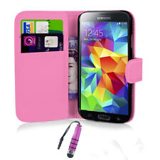 Flip Wallet PU Leather Case Cover Skin For Various Samsung Galaxy cell Phone