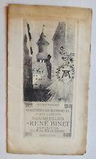 Catalogue exposition Aquarelles de RENE BINET  galerie Durand-Ruel Nuremberg