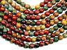 Natural Picasso Jasper Gemstone Round Beads 15.5'' Strand 4mm 6mm 8mm 10mm 12mm