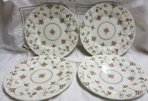 Finlandia Myott Brown pre Churchill Side Plates Bread and Butter X 4