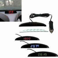 Voltmetro termometro esterno interni con orologio LCD LED digitale per auto 12V
