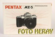 Pentax MZ-5 die originale Bedienungsanleitung neuwertig 02768