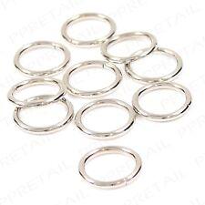 10 x Silver Nickel 16mm Inner Diameter Metal Curtain Rings Small/Mini Loop/Hoops
