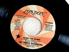 OLYMPIC RUNNERS~DUMP THE BUMP~NEAR MINT~RARE PROMO~LONDON~~ FUNK  45