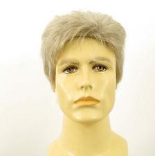 Perruque homme 100% cheveux naturel blanc méché gris SEBASTIEN 51