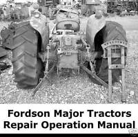 Fordson Major Tractors Repair Operations Shop Service Manual ON CD-ROM Ship FAST