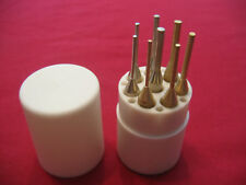 NEW 8 PC GUNSMITH BRASS AND STEEL TUBE PUNCH DRIFT PIN  SET !!!!!!