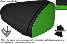 BLACK & GREEN CUSTOM FITS KAWASAKI 08-10 ZX10 R NINJA 1000 REAR SEAT COVER