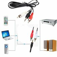 Phone Audio Speaker 3.5mm Cable Male Stereo Mini Plug Jack TO 2 RCA Stereo