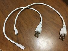 LOT OF 2 Extension Cable Connector Wire 3 Pin US Plug  50cm  For T5 T8 Led Tube