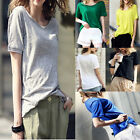 Plus Size Women Summer Short Sleeve Casual T-shirt Sports Loose Blouse Tops Tee