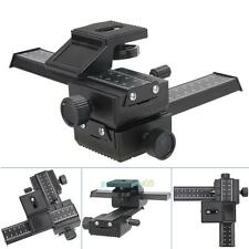 Pro Version 4 Way Macro Shot Focusing Focus Rail Metal Slider For DSLR Camera