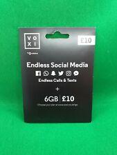 Voxi by Vodafone 4G Broadband Multi Sim card, 45GB data £10 6GB Endless internet