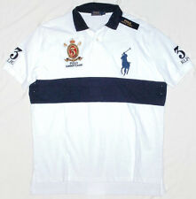 Polo Ralph Lauren Classic Fit BIG PONY Mesh Polo Shirt Crest White Navy small