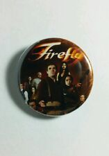 """SERENITY FIREFLY CAST GROUP PHOTO MOVIE TV 1.25"""" PINBACK BUTTON PIN NEW"""