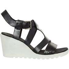 ECCO Black Freja Wedge Sandals 7 NEW RRP£90
